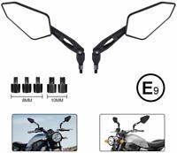 "Motorrad 7/8""Lenkerendenspiegel Lenker Endseite Rückspiegel Aluminium Universal"