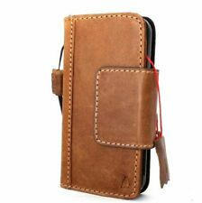 genuine leather case for iphone 5  flip slim book cover pouch handmade cards
