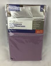 Better Homes & Gardens 400 Thread Count King Pillowcases - 2 pk Dusty Orchid New