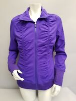 Fila Sport Full Zip Wicking Workout Jacket Purple Size Medium