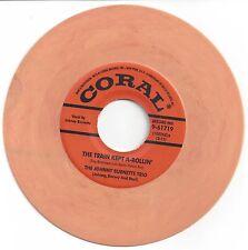 Reissue-Johnny Burnette Trio-The Train Kept A-Rollin / Honey Hush-Coral 61719