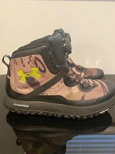 Under Armour Barren Fat Tire Michelin Gore-Tex Hunting Camo Boots size 10.5