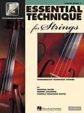 Essential Technique For Strings Violin Music Book 3 W/Internet Access New Sale!