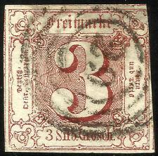 THURN UND TAXIS, 3 SILBERGROSCHEN, 1861, MICHEL # 17, RING CANCELLATION # 29