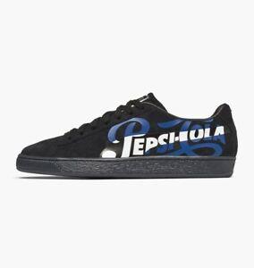 NEW Puma x Pepsi Cola Suede Classic Mens Casual Shoe Sneaker basket Black Silver