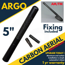"5""Black Carbon Car Aerial Bee Sting Mast Antenna Ariel Arial Mini Radio Stubby"