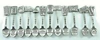 Vintage Hershey Chocolate Pewter Collectible History Spoons Lot Of 12 Collection
