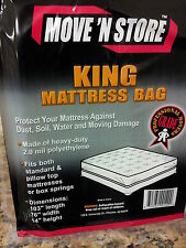 Move N Store 2 King Mattress Bag  Polyethylene Standard Pillow Top Box Cover