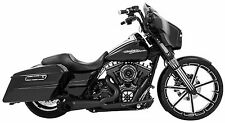 Freedom Performance Turn Out Exhaust In Pitch Black For Harley 1995-2016