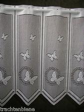 Scheibengardine Schmetterlinge Bistro Büro Küche Flur Veranda nach Maß 12,5 cm