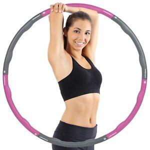 Hula Hoop Reifen 1,8 Kg Erwachsene und Kinder, Gelenke mit Schaumstoff Polster