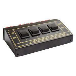 Lautsprecher Umschaltbox für vier Lautsprecherpaare Good Connections® Boxen