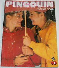 Pingouin Knitting Magazine Book Winter No 24 80 Patterns Sweaters Scarves Shawls