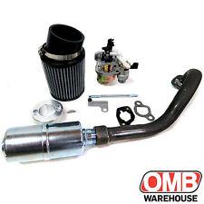Stage 2 Air Filter Exhaust Pipe For Hemi Predator 212cc MiniBike Go Kart Trike