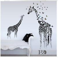 Giraffe Animal wall decals Art decor Kids Baby Nursery room decor wall sticker
