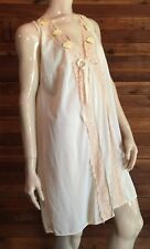 Vintage Ivory Size Small Nylon Nightgown #8705