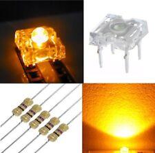 50 diodi led PIRANHA SUPERFLUX 5 mm giallo + 50 resistenze 1/4W 560 OHM