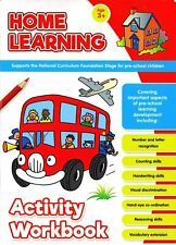 Home Learning Activity Workbook Age 3+ Educational Pre-School Children Numbers