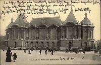 Lille Frankreich France Palais de Beaux Arts Palast AK 1904 nach Naumburg gelauf