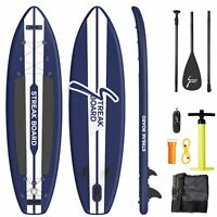 Inflatable Non-slip Stand Up Paddle Board Surfing SUP Boards w/Backpack Leash US