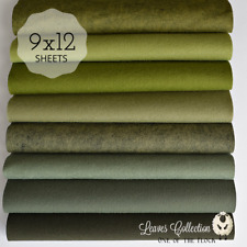 "NEW LEAVES Felt Collection, Merino Wool Blend Felt, 8- 9"" X 12"" Sheets, Applique"