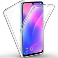For Motorola Moto G7 Power Play New Clear 2 in 1 Front Back Full Body Phone Case