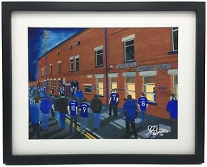 Oldham Athletic FC Boundary Park High Quality Framed Art Print. Approx A4.