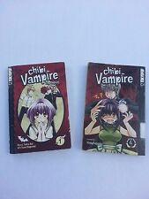 CHIBI VAMPIRE Vol. 4 & Novel + Discounted VAMPIRE HUNTER D Manga - $8