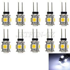 10 X White G4 5 SMD LED 5050 RV Marine Boat Camper Car Light Bulb Lamp DC 12V
