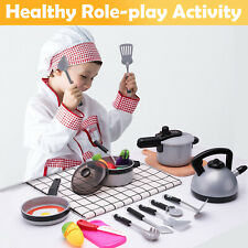 Kids Kitchen Pretend Play Toys,Cooking Set,Pots and Pans,kitchen set for toddler