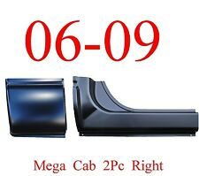 06 09 RIGHT 2Pc Mega Cab Rocker & Mega Cab Corner, Dodge Ram Truck, 1.2MM Thick