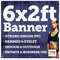 6ft x 2ft PVC Banners | Outdoor Vinyl Print | Personalised Business Advertising