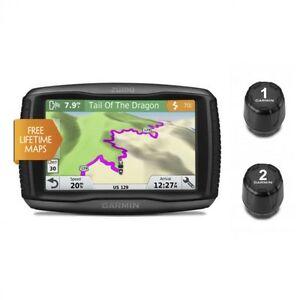Garmin zumo 595LM Motorcycle GPS w/ Two Tire Pressure Monitor Bundle 01603-00