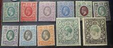BRITISH SOMALILAND KING GEOGRE V 1921 PART SET S.G.73-82 & 84 MINT HINGED VGC