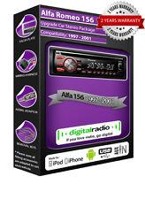 ALFA ROMEO 156 DAB+ Radio Reproductor de CD COCHE PIONEER Plays iPod iPhone