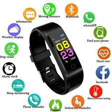 SmartWatch Unisex HeartRate Monitor BloodPressure Fitness Tracker ios & Android