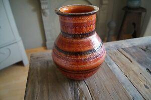 Vase Keramik  Bitossi Italien Rot selten vintage