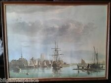 Framed Harbour Scene 'View of Dordrecht' by Aelbert Cuyp