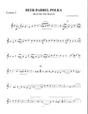 Beer Barrel Polka Oktoberfest Brass Quintet Sheet Music