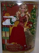 NEW 2008 MATTEL BARBIE EDEN STARLING A CHRISTMAS CAROL HOLIDAY DOLL FIGURE CAT