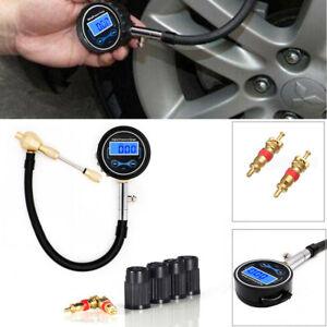 Digital Car SUV Tire Air Bleeder Deflator Wheel Pressure Gauge Meter Kit PSI BAR