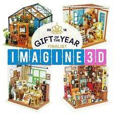 Imagine 3D DIY House Model Making Kit Miniature LED Light Dolls House Build