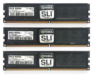 *USED* OCZ 6GB (3x2GB) DDR2 PC2-6400 (800 MHz) SDRAM, SLI-Ready, OCZ2N800SRC44GK