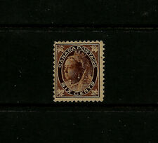 Canada 1897 Queen Victoria Maple Leaf issue 6c brown F-VF mint hinged