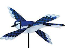 "18"" BLUE JAY Whirligig Wind Spinner -- Yard Stake -- Garden Decor"