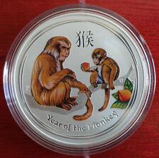 2016 Perth Mint Year of The Monkey 2 oz Silver Coin