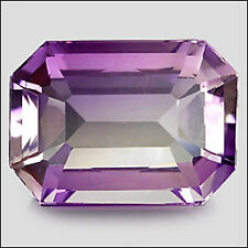 8,17 ct  Beautiful Violet Gold Ametrine - Emerald cut - VVS - Bolivia