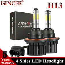 2200W  4-Side LED H13 9008 Headlight 300000LM CREE Hi/Lo Beam Bulb White 6000K