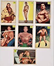 (7)  1955 - 56 PARKHURST WRESTLER CARDS  #19, 32, 53, 75, 80, 81, 101 EX/EXMT
