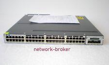 Cisco ws-c3750x-48pf-s 48x 10/100/1000 POE + 2 x 1100 W PSU + c3kx-Presque comme neuf-10g 10 Go